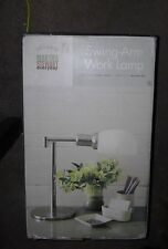 "Vintage Martha Stewart Swing-Arm Work Medal Lamp 16.5"" Office Project Craft HTF"
