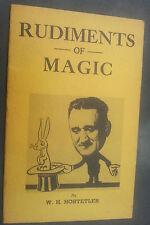 1946 Rudiments Of Magic Waldo Hostetler Tricks Showmanship Diversion