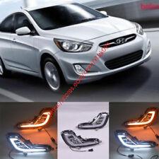 For Hyundai Accent 12-15 Sedan Hatchback LED DRL Fog Lights Driving Lamps LH RH