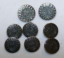 """(8) 1"""" & 3/4"""" Metal Double Eagle BUTTONS for German Bavarian Dirndl Jacket Coat"""