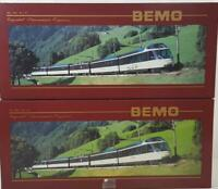 "BEMO 7488 300, 7480 300 HOm - SWISS MOB ""CRYSTAL PANORAMIC EXPRESS"" 5 CAR SET"