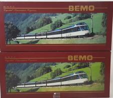 """BEMO 7488 300, 7480 300 HOm - SWISS MOB """"CRYSTAL PANORAMIC EXPRESS"""" 5 CAR SET"""