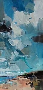 JOSE TRUJILLO Oil Painting IMPRESSIONISM LANDSCAPE 12X24 CONTEMPORARY MODERN ART