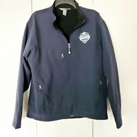 VANCOUVER 2010 OLYMPIC BLUE JACKET  Size Large Genuine Authentic Fall Light Coat