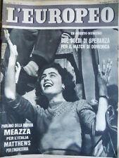 L' EUROPEO n°22 1952 Italia Inghilterra parlano Meazza e Matthews  [C74]