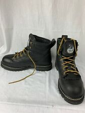 "Georgia Men GB00002 Low Heel 6"" Steel Toe Waterproof Black Logger Work Boots 10M"