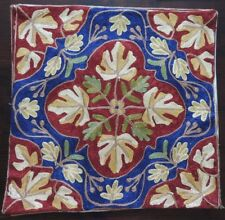 Kashmir Style Cushion Covers Pair - 42x42cm - Floral Ethnic Aari - xk3b