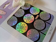 Vinilo Arte en Uñas Manicura plantillas guía Diamante en Estrella Estilo Pegatinas de manicura N320