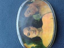 Vintage 1970s  Lovely ladies... AIR-116 Symbolist Artwork Masterwork Belt Buckle