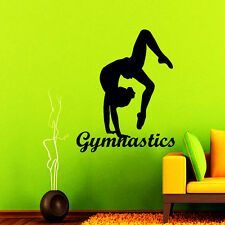 Gymnastics Wall Decal Sport Decal Gym Vinyl Sticker Dance Studio Art Decor NA199