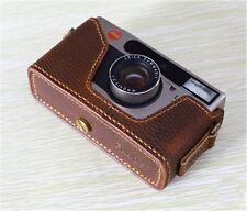 Leather Leica Minilux / Minilux Zoom Dark Brown Half Case - BRAND NEW