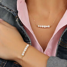Necklace Bracelet Pearl Jewelry Sets For Women Wedding Bridal Party Accessories