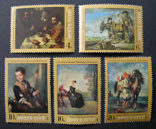 Russia 1972 4001-4005 MNH OG Russian Hermitage Masters Oil Paintings Set $4.15!!