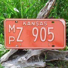 Véritable Plaque D'Immatriculation KANSAS (905) USA License plate
