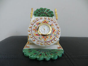 Hand Made Antique Marble Mobile stand with Watch
