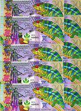 UNC /> Commemorative LOT Kamberra 2013 10 x 20 Numismas Chamelion POLYMER