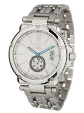 NEW GUESS COLLECTION GC 1 SWEEP DATE SS SILVER BRACELET WATCH G65001G1 X65001G1S