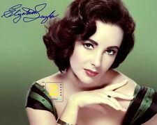 """Elizabeth Taylor Signed 10""""x 8"""" Color PHOTO REPRINT"""
