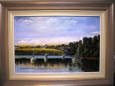 Brian Allison's Australian original oil titled 'Mary River Maryborough'