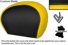 BLACK & YELLOW CUSTOM FITS PIAGGIO VESPA 125 250 300 GTS LEATHER BACKREST COVER