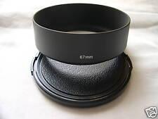 New Metal Standard 67mm Screw-in Lens Hood + Cap