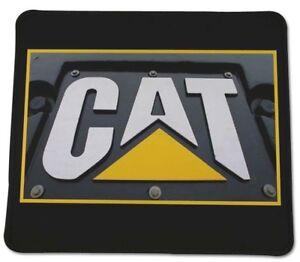 "CAT Caterpillar Logo Gold rush Country Anti slip COMPUTER MOUSE PAD 9 X 7"" USA"