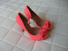 Ladies High Heel Shoes Pink Man Made Material   Size 38  Design  Fiebiger
