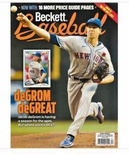 New September 2021 Beckett Baseball Card Price Guide Magazine With Jacob deGrom