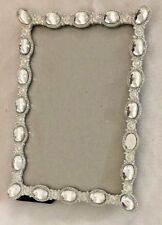 "Silvertone Rhinestones 5 X 7"" Frame Holds 4 X 6"" Photo"