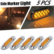 5pcs Amber Lens Led Marker Light Cab and Sleeper Kit For Kenworth w900 16 Diodes