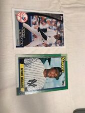 1990 TOPPS  #701 BERNIE WILLIAMS & 2002 Topps 3 Of 30 Cards