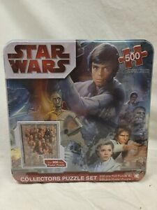 Star Wars Collectors Tin Puzzle Set 500 pc. Foil + BONUS 300 pc. Poster 2010 NEW