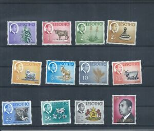 Lesotho stamps.  1967 definitive series MH. 10c is thinned. No watermarks (N384)