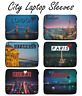 City Laptop Sleeve Case Pouch Cover Bag Macbook HP DELL Lenovo 12 13 14 15 Inch