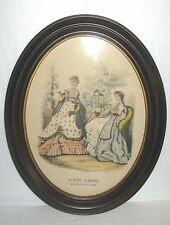 Vintage Framed Victorian Advertising Fashion Print La Mode Illustree # 2