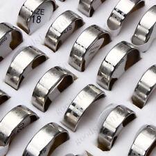FREE Wholesale Lots 12pcs gothique en acier inoxydable Silver Men's Favor Jewelry Ring