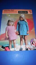 Sirdar Girls Party Dress Knitting Pattern 295