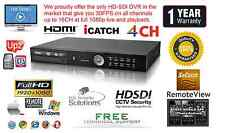 4 Channel HD-SDI True Full HD DVR H264 1920X1080@120FPS Netwrok HDMI 1080P 12TB