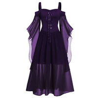 WOMEN RENAISSANCE MAXI DRESS MEDIEVAL VICTORIAN BALL GOWN HALLOWEEN COSTUMES US