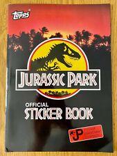 Jurassic Park original Topps 1992 Sticker album, Loose stickers & Movie Cards
