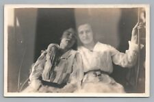 Sultry Women in Carriage RPPC Antique Girls Photo SPRINGFIELD OHIO Studio Photo