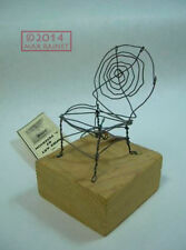 C Peterson ORIGINAL wire ART sculpture SPIDER CHAIR w box SIGNED OOAK LISTED