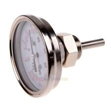 """1/2""""Stainless Steel Thermometer for a Moonshine Still Condenser or Brew Pot #3YE"""