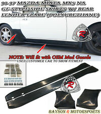 GF-Style Side Skirts + Rear Fender Flare (Urethane) Fits 90-97 Mazda Miata