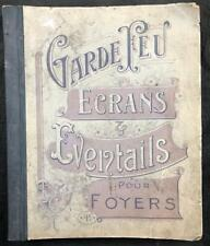 C1900 LARGE FRENCH SALES CATALOGUE WITH PRICE LIST FIRE GUARDS ILLUSTRATED