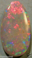 AUSTRALIAN WHITE SOLID OPAL COOBER PEDY 15x8x2mm 1.9cts.