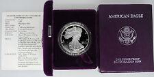 1993-P Proof American Silver Eagle with Box & COA