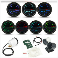 "2"" 52mm 12V Autos Mechanical Vacuum Gauge Tinted 7-Color Backlight With Hose Kit"