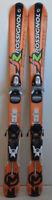 Skis parabolique d'occasion Junior ROSSIGNOL Radical J + Fixations - 100 à 130cm