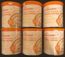 LOT Of 6 - Organics Happy Baby Probiotic Baby Cereal - Multi-Grain - 7 Oz EACH